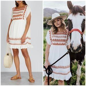 Free People White Mini Dress Size X-Small